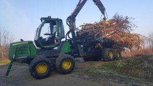 Proizvodnja in prevoz sekancev, strojna sečnja, odkup in spravilo lesa klaftra 007