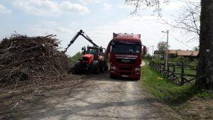 Proizvodnja in prevoz sekancev, strojna sečnja, odkup in spravilo lesa klaftra 008