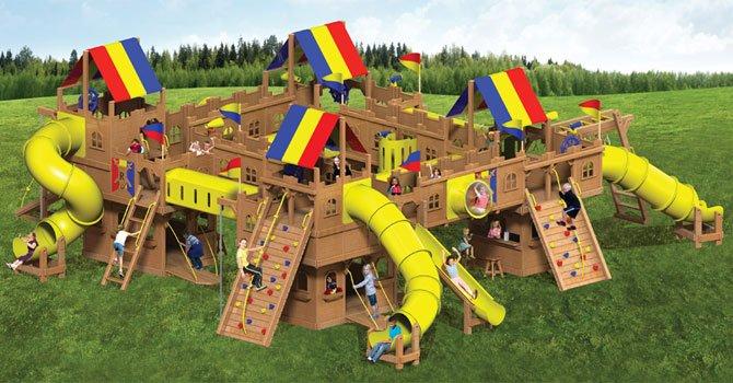 otroška lesena igrala 100