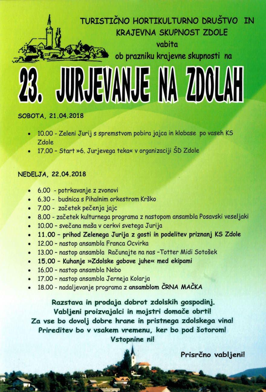 Turistično hortikulturno društvo Zdole Plakat-jurjevanje-2018