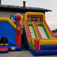 napihljiva zabava Plezalec in poskočni ring