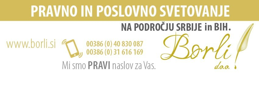 Svetovanje in poslovne storitve za trg Srbije ter Bosne in Hercegovine - borli.si 101
