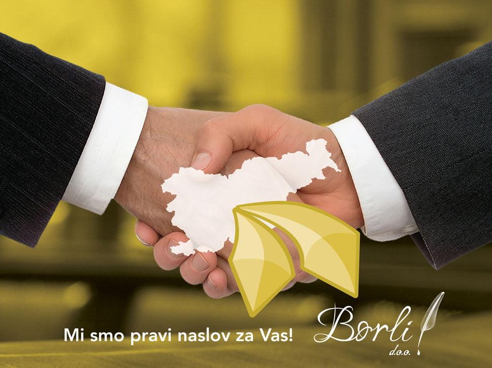 Svetovanje in poslovne storitve za trg Srbije ter Bosne in Hercegovine Borli d.o.o. 102