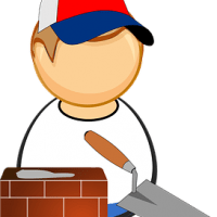 Zidanje hiš, izkopi za hiše, izkopi za kanalizacije--logo