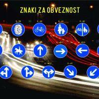 Prometni znaki za obveznost - 1524303602