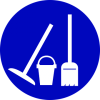 Očistim, čistilni servis, Denis Benčič, s.p.--logo