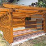 MLINAR d.o.o., balkonske ograje, vrtne ute, pergole in brunarice, nadstreški za avte iz lesa, sedežne garniture in klopi, predelava lesa, lesene ograje100