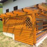 MLINAR d.o.o., balkonske ograje, vrtne ute, pergole in brunarice, nadstreški za avte iz lesa, sedežne garniture in klopi, predelava lesa, lesene ograje102