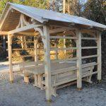MLINAR d.o.o., balkonske ograje, vrtne ute, pergole in brunarice, nadstreški za avte iz lesa, sedežne garniture in klopi, predelava lesa, lesene ograje86