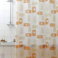 Kopalniške zavese, pogrinjki, predpražniki Svet Dekorja Pennellata_oranzna_1