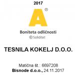 Tesnila prirobnic tesnila iz gume, grafitna tesnila - Tesnila Kokelj boniteta-odličnosti-2017