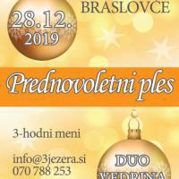Sobota, 28. 12., ob 19. uri: Prednovoletni ples z Duo Vedrina, Dom kulture Braslovče  - 1590792081